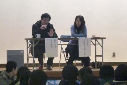 田中優さんとマエキタミヤコさん