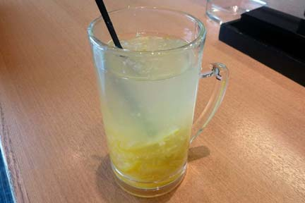 二兎のまるごと柚子茶ホット